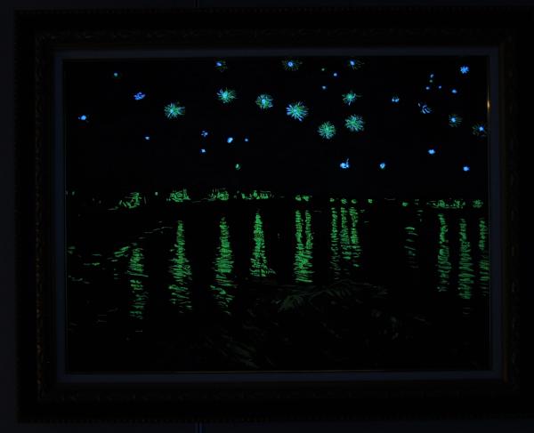 Van Gogh Starry Night in nishijin ori
